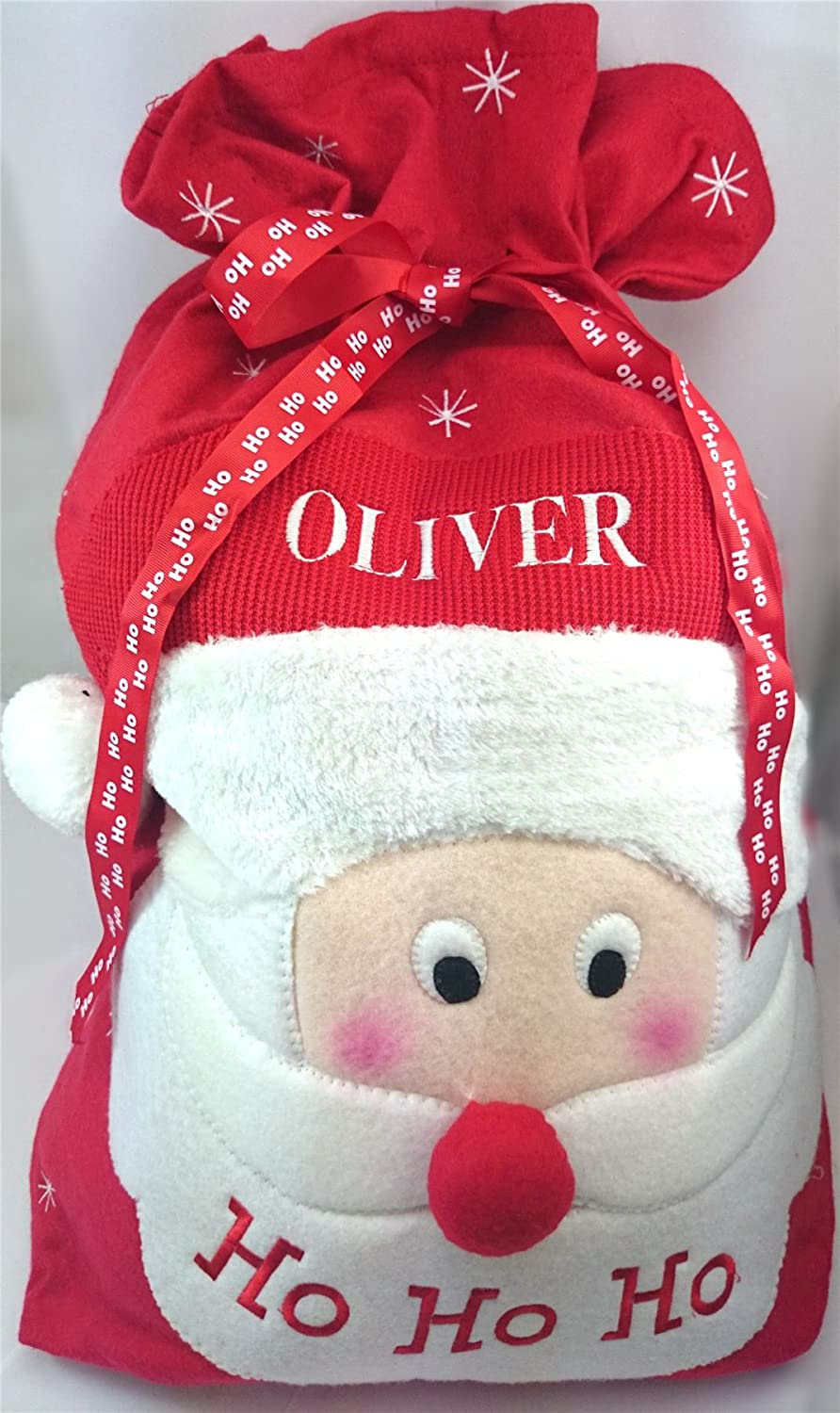 Personalised Embroidered Large Christmas Present Deluxe Santa Sack Boys  Girls Gift Bag Stocking Toy Tree: Amazon.co.uk: Kitchen & Home