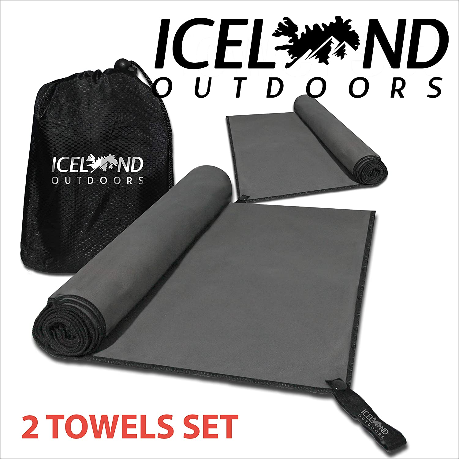 Iceland Outdoors Quick Dry Camping Towel Set