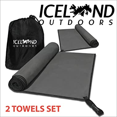 Iceland Outdoors Quick Dry Microfiber Camping Towel Set for Your Perfect Hike