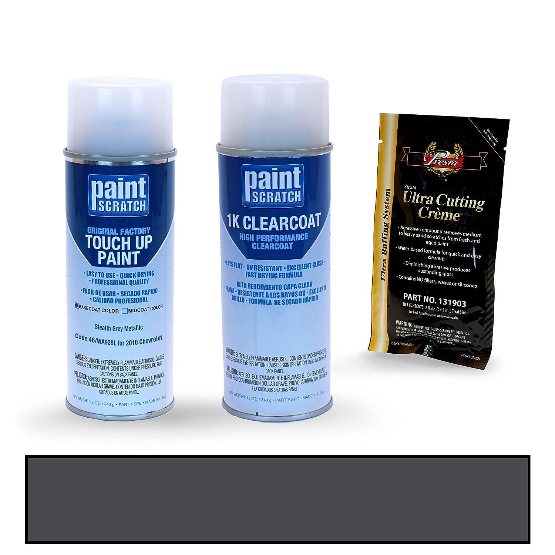 PAINTSCRATCH Stealth Grey Metallic 46/WA928L for 2010 Chevrolet Suburban -  Touch Up Paint Spray Can Kit - Original Factory OEM Automotive Paint -