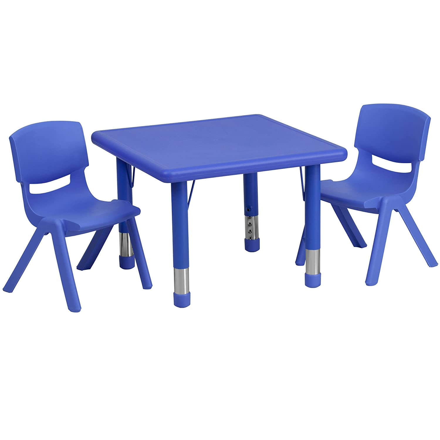 Amazon Flash Furniture 24 Square Blue Plastic Height
