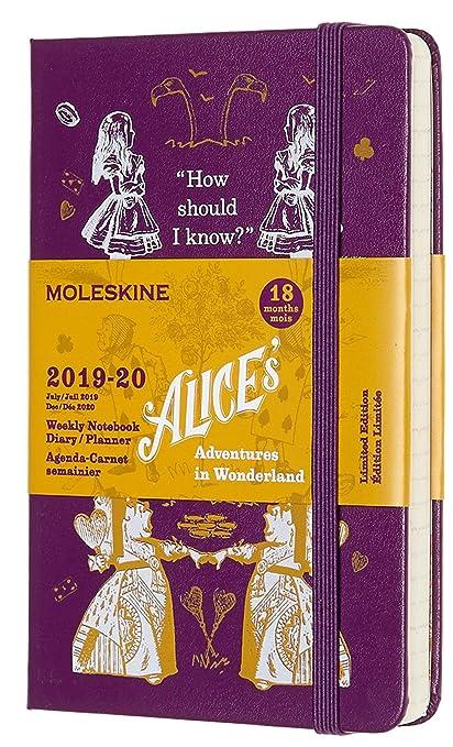Moleskine - Agenda Semanal de 18 Meses Alicia en el País de las Maravillas Edición Limitada, Color Púrpura, Agenda Escolar 2019/2020 con Tapa Dura y ...