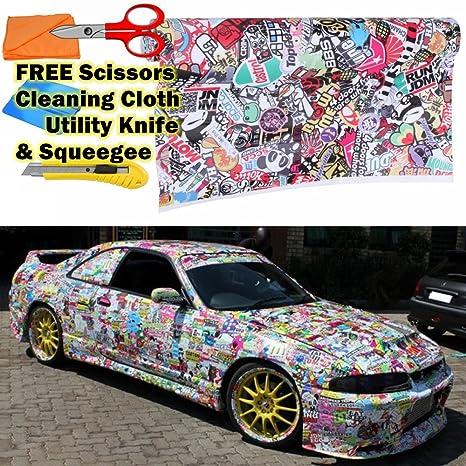 M J Auto Parts Llc >> Amazon Com Jdm Illest Stickerbomb Graffiti Cartoon Vinyl
