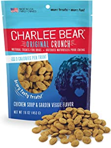 Charlee Bear Original Crunch Natural Dog Treats, Made in the USA, Low Calorie Treats for Training or Treating