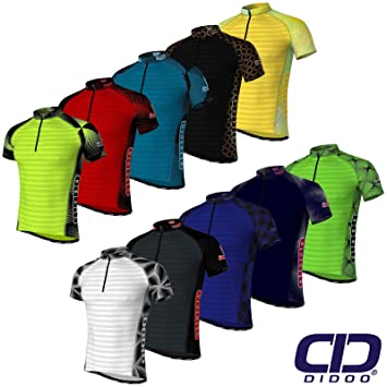 Didoo Men s Summer Cycling Jerseys Breathable Short Sleeve Biking Tops  Mountain S Black 958f2855b