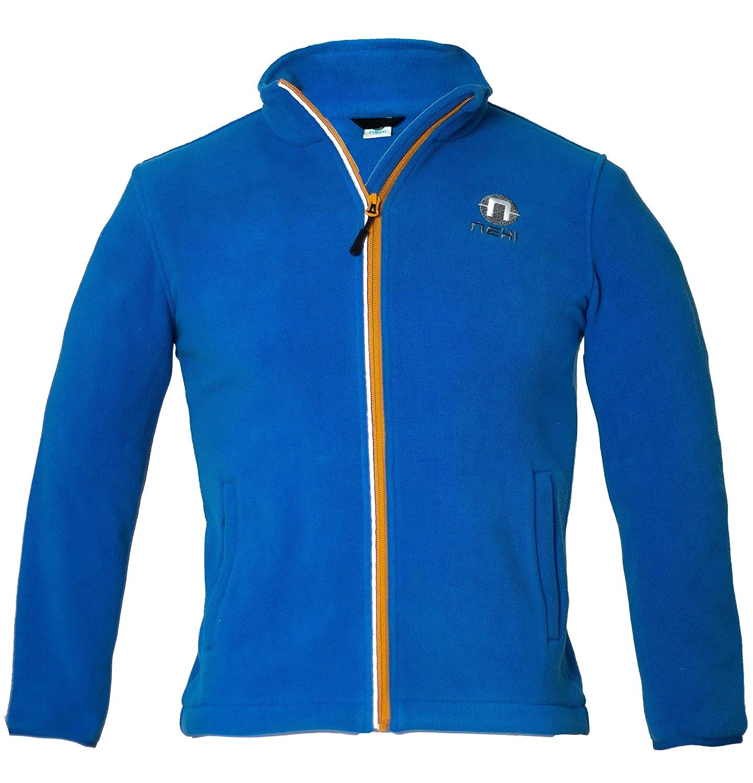Nexi Kinder Fleece Jacke | ideal für Jungen und Mädchen kuschelig weich mit 2 Seitentaschen | SBS Reißverschluss mit Kinnschutz | Tibi