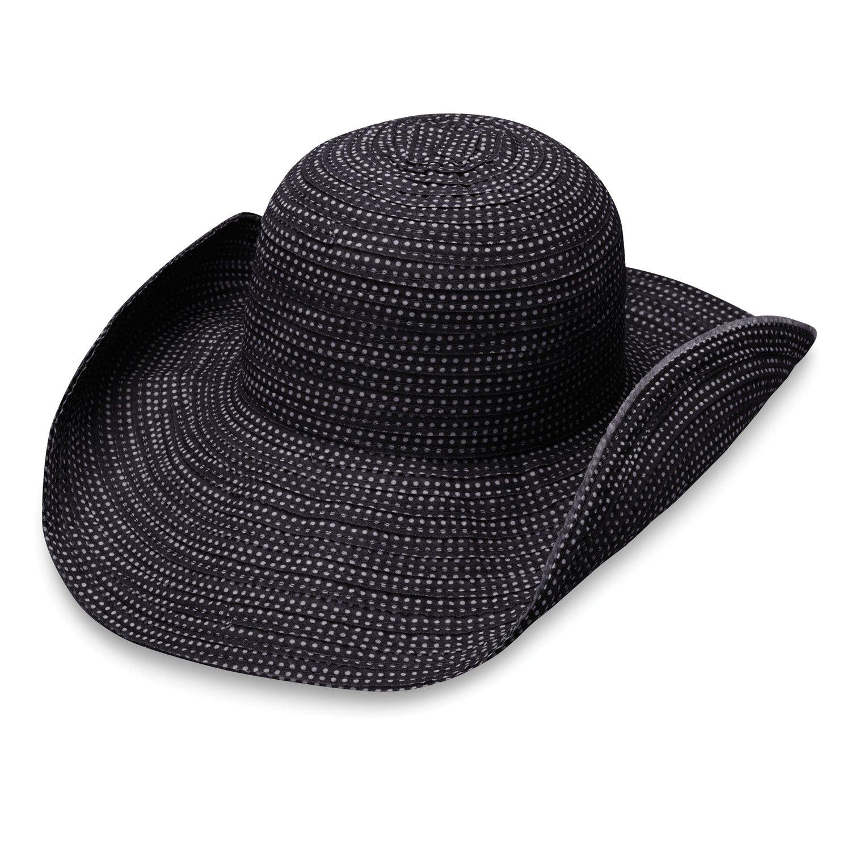 8306369a0d266 Wallaroo Hat Company Women s Scrunchie Sun Hat - Black White Dots ...