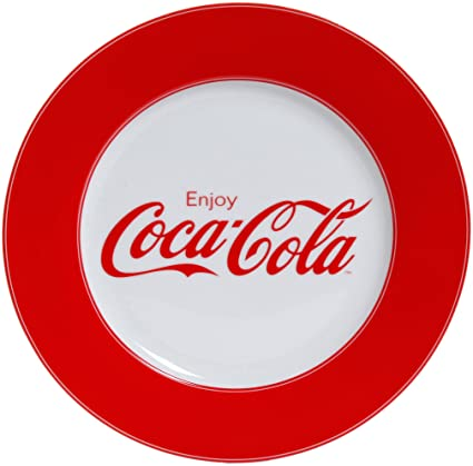 Gibson Enjoy Coca-Cola Dinner Plate Set of 4  sc 1 st  Amazon.com & Amazon.com | Gibson Enjoy Coca-Cola Dinner Plate Set of 4: Coca ...
