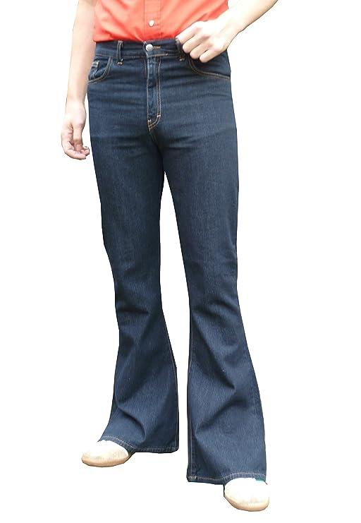 60s – 70s Mens Bell Bottom Jeans, Flares, Disco Pants Flares Jeans High Rise 60s 70s Indie Mod Hippy Blue $50.10 AT vintagedancer.com