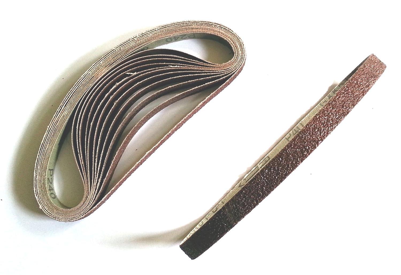 12 Schleifbänder 13 x 451 mm MIX K40-240 Schleifband Schleifpapier Powerfeile
