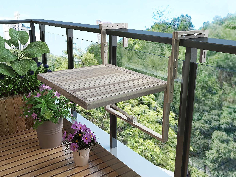 INTERBUILD Mesa de balcón de Toronto (Blanco orgánico): Amazon.es: Jardín