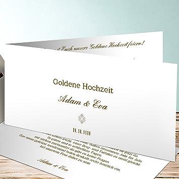 Goldene Hochzeit Einladung Selber Gestalten Pure Liebe 130 Karten