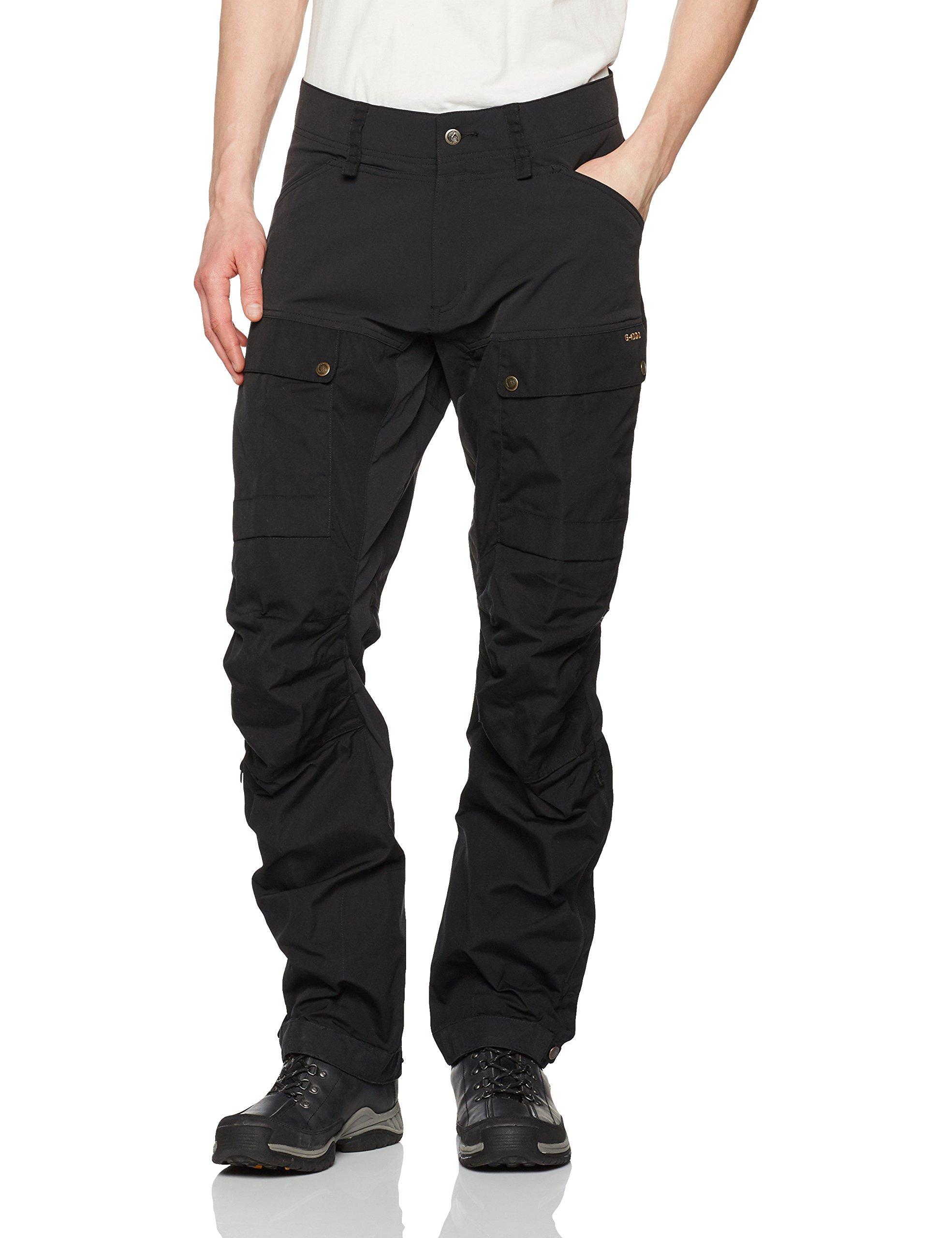Fjallraven Men's Keb Trousers, Black-Black, 52
