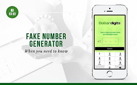 Amazon com: Dollar Digits # Second Phone Number Fake Burner App