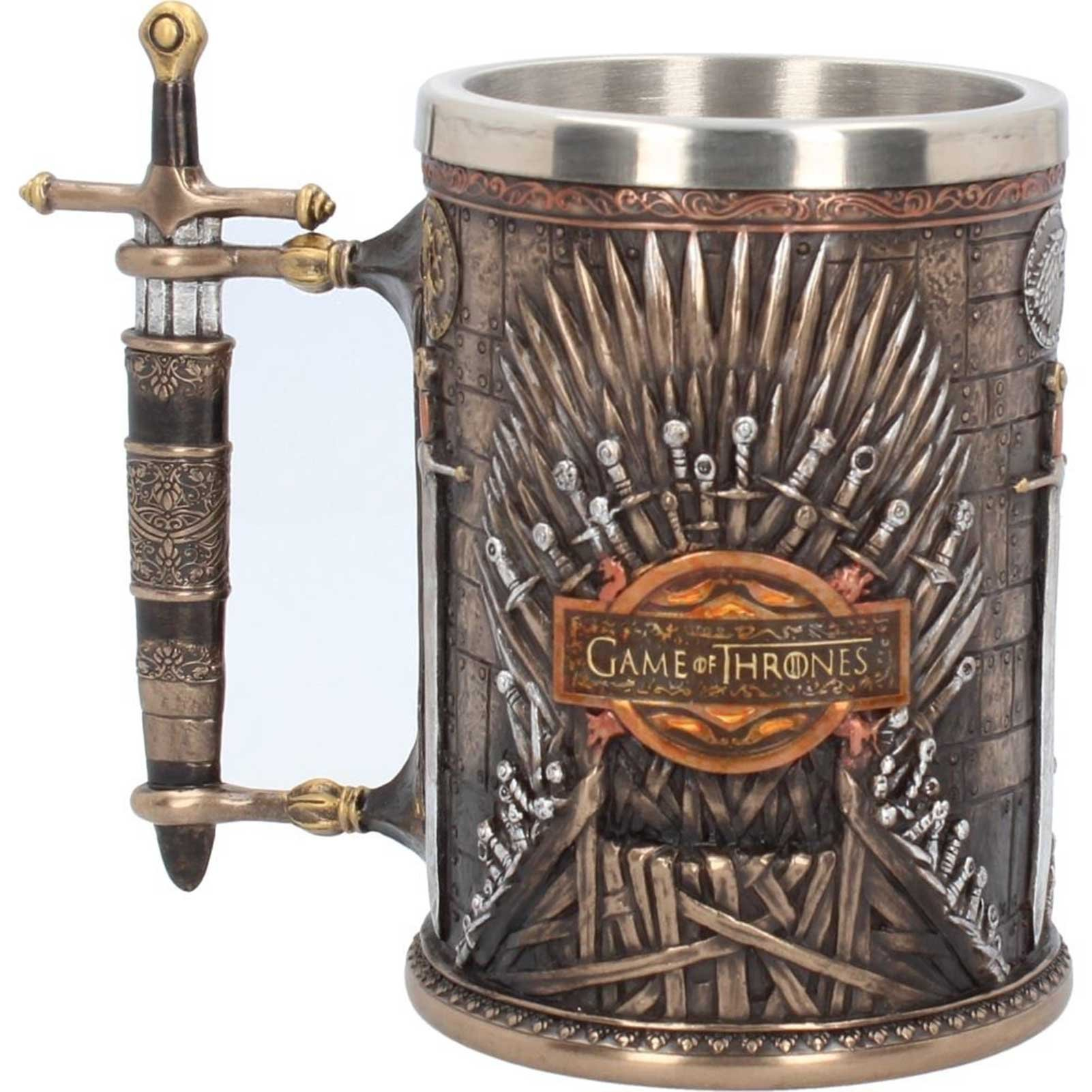 Game Of Thrones Tankard Iron Throne House Sigils Logo Official Hand Painted