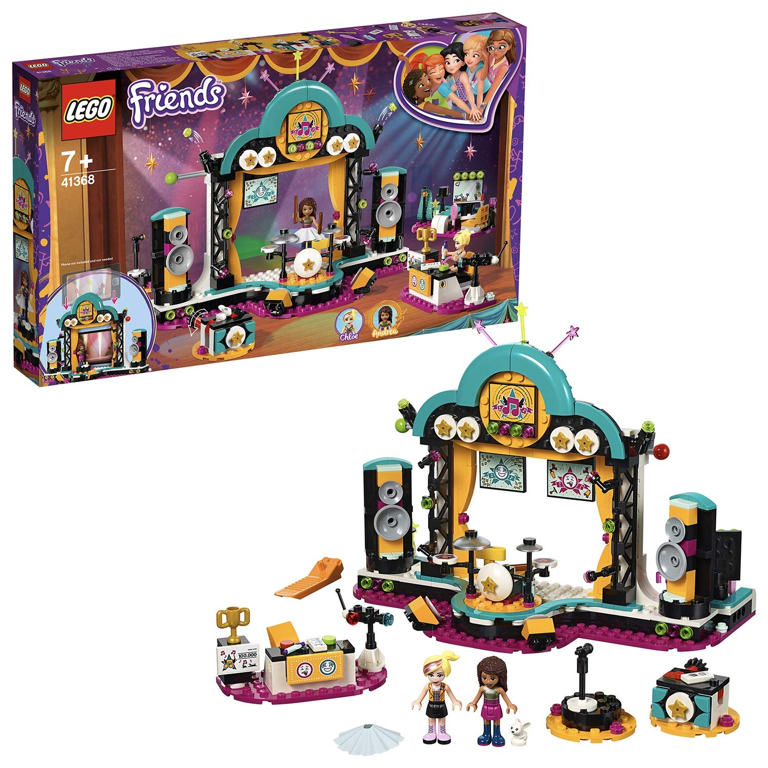 achat LEGO Friends - Le spectacle d'Andréa - 41368 - Jeu de construction pas cher prix