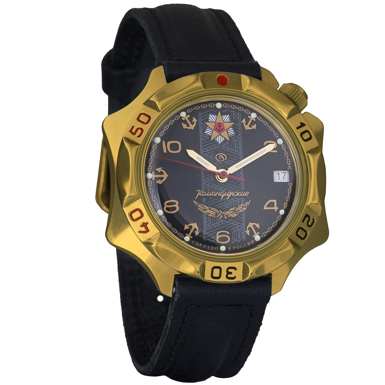 Vostok KOMANDIRSKIE 2414 539301 Militar ruso reloj mecánico: Amazon.es: Relojes