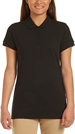 CHAPS Womens Uniform Short Sleeve Stretch Pique Polo Short Sleeve Polo Shirt