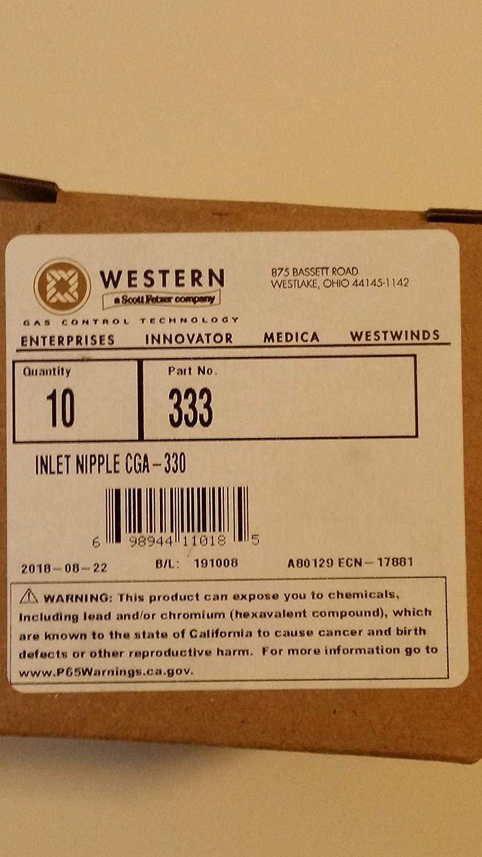 SS-333 SEPTLS312SS333 Western Enterprises Regulator Inlet Nipples