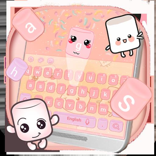Marshmallow candy keyboard Theme (Mobile Micromax)