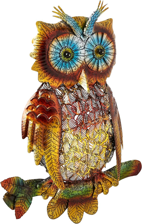 Royal Metal Owl Wall Art Home Deco Garden Decoration Outdoor Status Gift Girls B