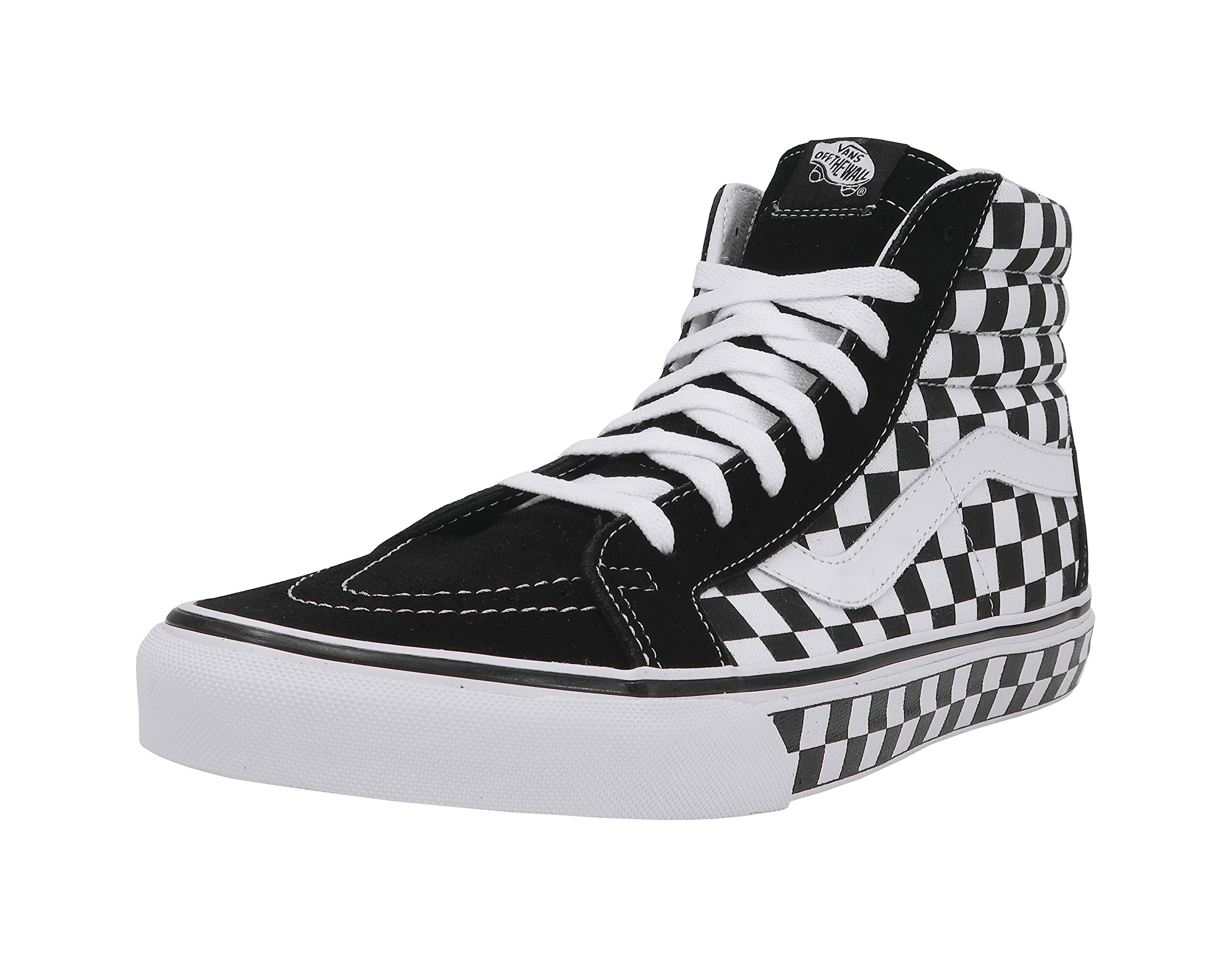 3fc9e046fb2 Galleon - Vans Unisex Checkerboard SK8-Hi Reissue Black True White Check  Sneaker - 13