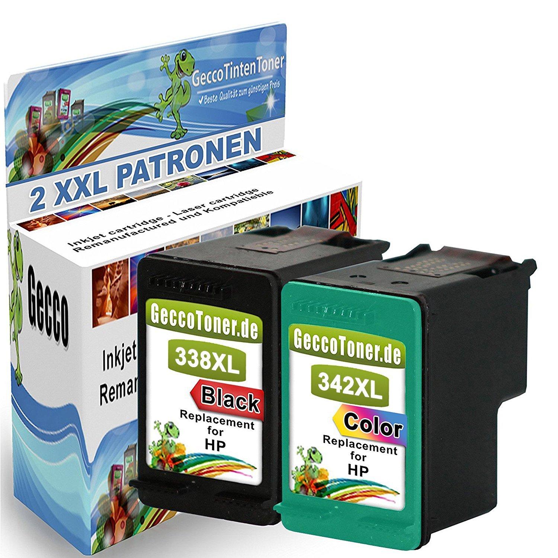 2x Remanufacturado Cartuchos de tinta HP 338 342 XL Compatible ...