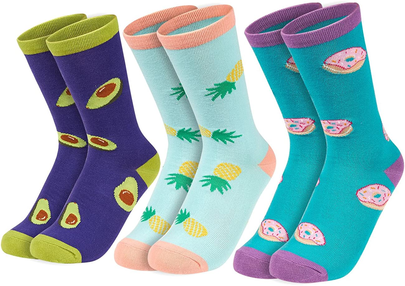 Womens Ladies Novelty Socks 3 Pack Cotton Rich Funny Slogan Everyday Gift 4-8