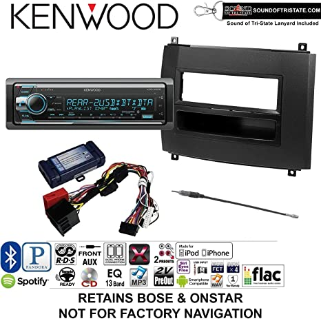 Amazon com: Kenwood KDCX502 Install Kit with Bluetooth, CD Player