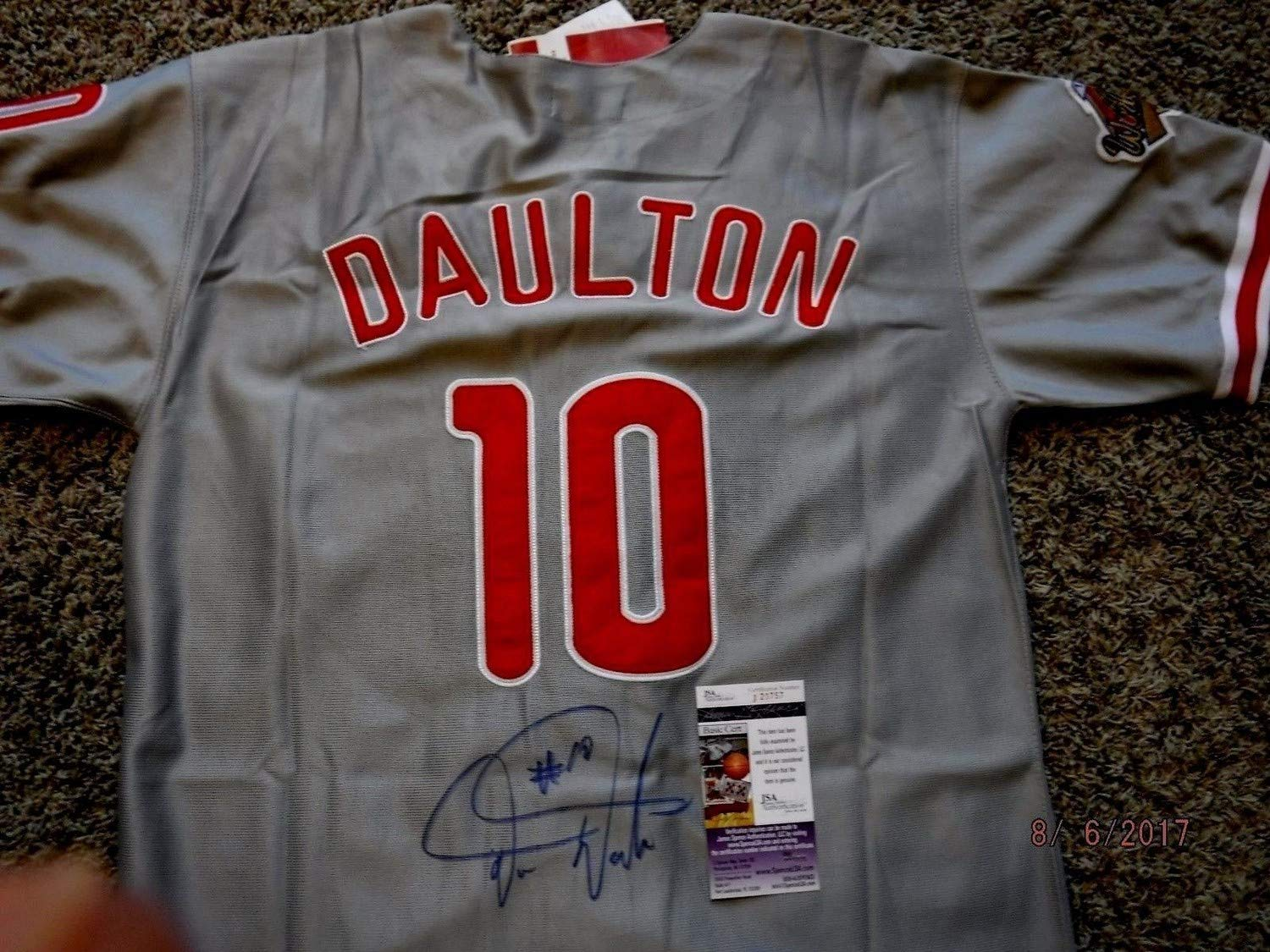 best loved 5c59d 6a057 Darren Daulton Autographed Signed 1993 Mitchell & Ness ...