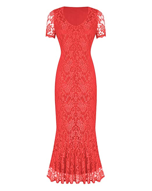af4aa9a9e2 Simply Be Womens Joanna Hope Lace Maxi Dress 52in Coral