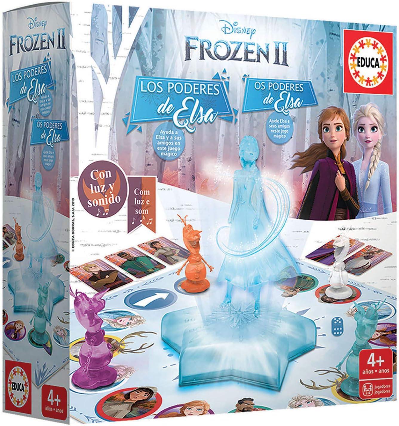 Educa Borrás-Frozen II Los Poderes de Elsa, Juego de Mesa con luz ...