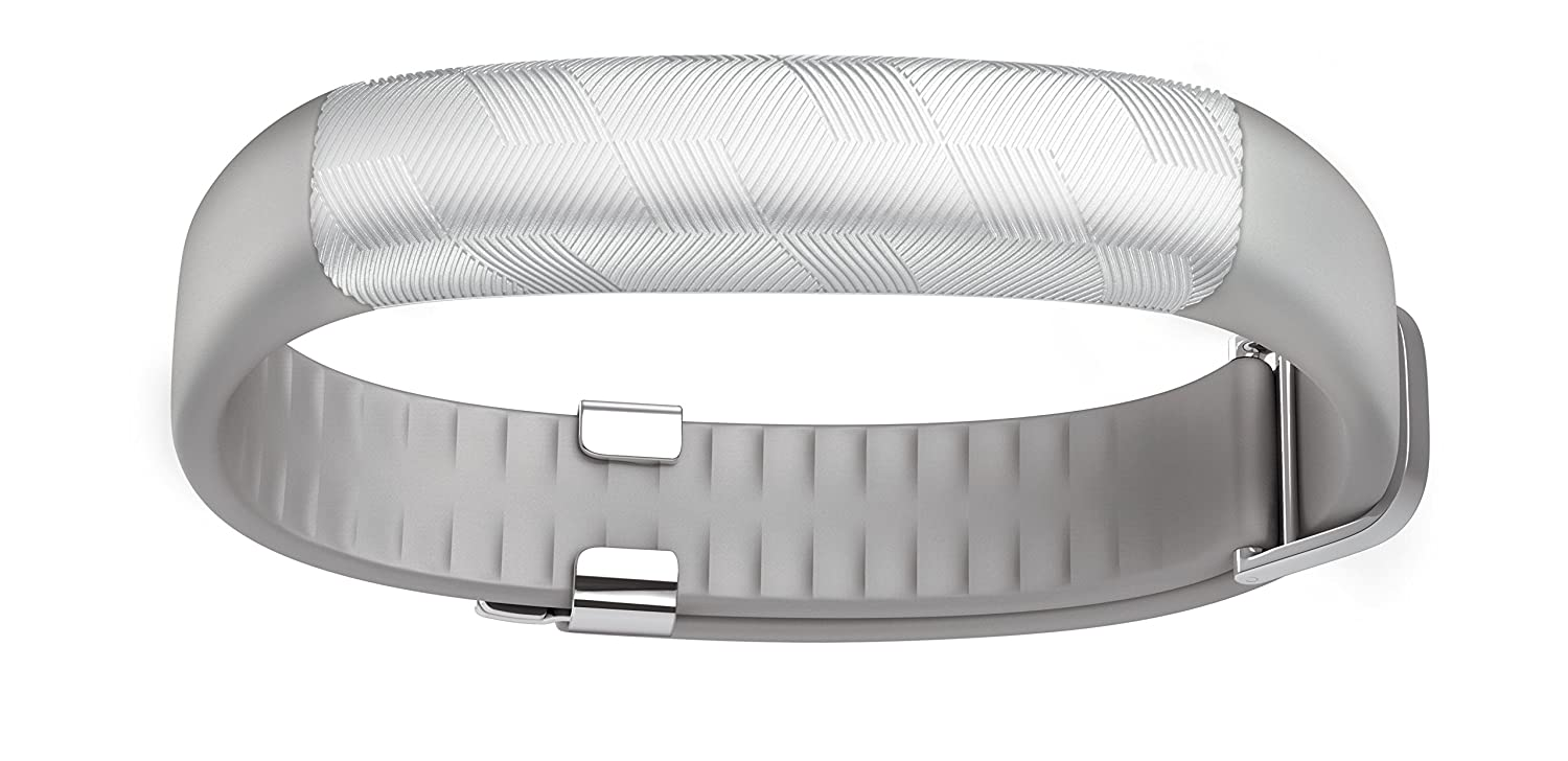 UP2 by Jawbone Activity + Sleep Tracker, Light Grey Hex (Silver), Classic Flat Strap