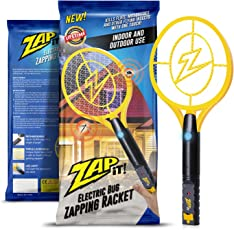 Zap It! Bug Zapper   Rechargeable Mosquito, Fly Killer And Bug Zapper  Racket
