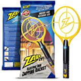 Zap-It! Bug Zapper - Rechargeable Mosquito, Fly Killer and Bug Zapper Racket - 4,000 Volt - USB Charging, Super-Bright LED Light to Zap in the Dark - Unique 3-Layer Safety Mesh That's Safe to Touch