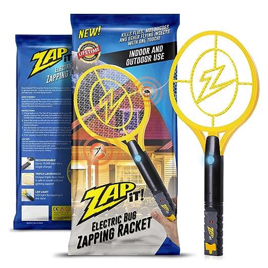 Zap-It! Bug Zapper - Raqueta de mosquito recargable, matamoscas y ...