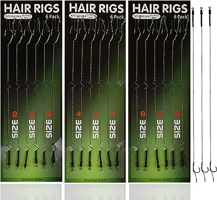 Karpfenangeln Haar-Rigs Geflochtene Schnur Angelhaken mit Boilie-Stopper