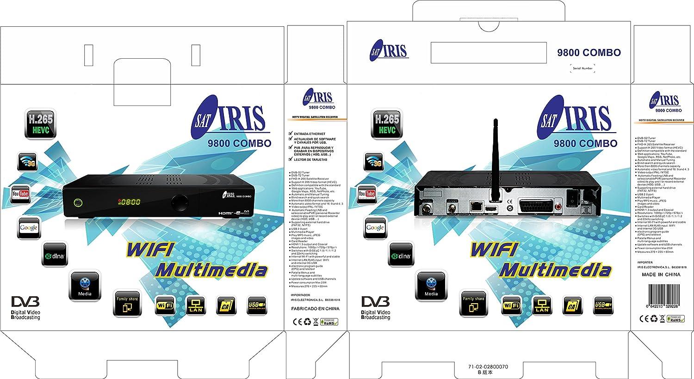 IRIS 9800 HD - Receptor de TV por satélite (Full HD, WiFi) color negro: Iris: Amazon.es: Electrónica
