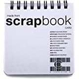 ScrapBook CardBook - 10-pack -- (3.5 x 3.5 inches) Top-Bound Notebook Upcycled from scrap material.