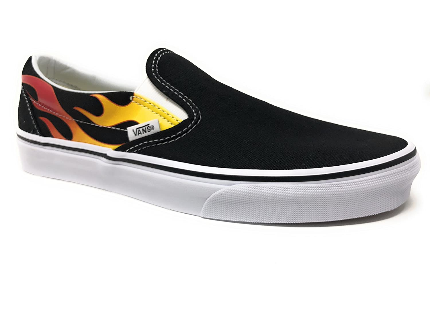 [バンズ] VANS スニーカー Classic Slip-on B01N4QCND8 7.5 B(M) US Women / 6 D(M) US Men Flame Black
