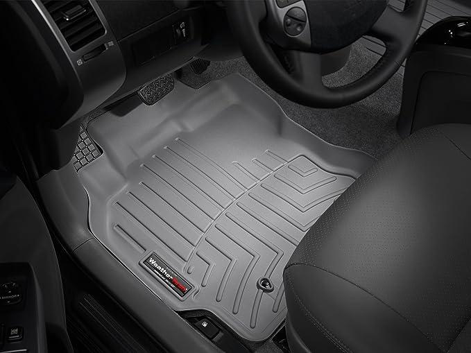 WeatherTech Custom Fit Front FloorLiner for Toyota Prius Grey 460851