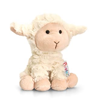 95b15f6239680 Keel Toys 14 cm Pippins Lamb  Amazon.co.uk  Toys   Games