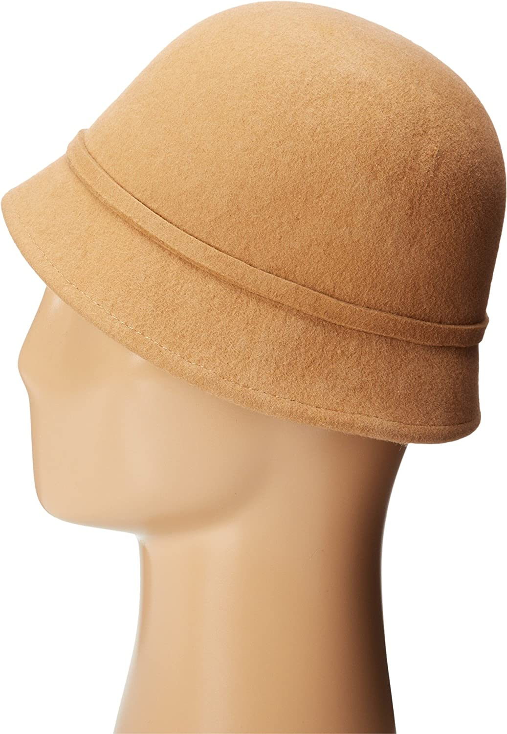 b0aa49fb843 SCALA Women s Wool Felt Cloche with Assorted Flowers Camel One Size at  Amazon Women s Clothing store