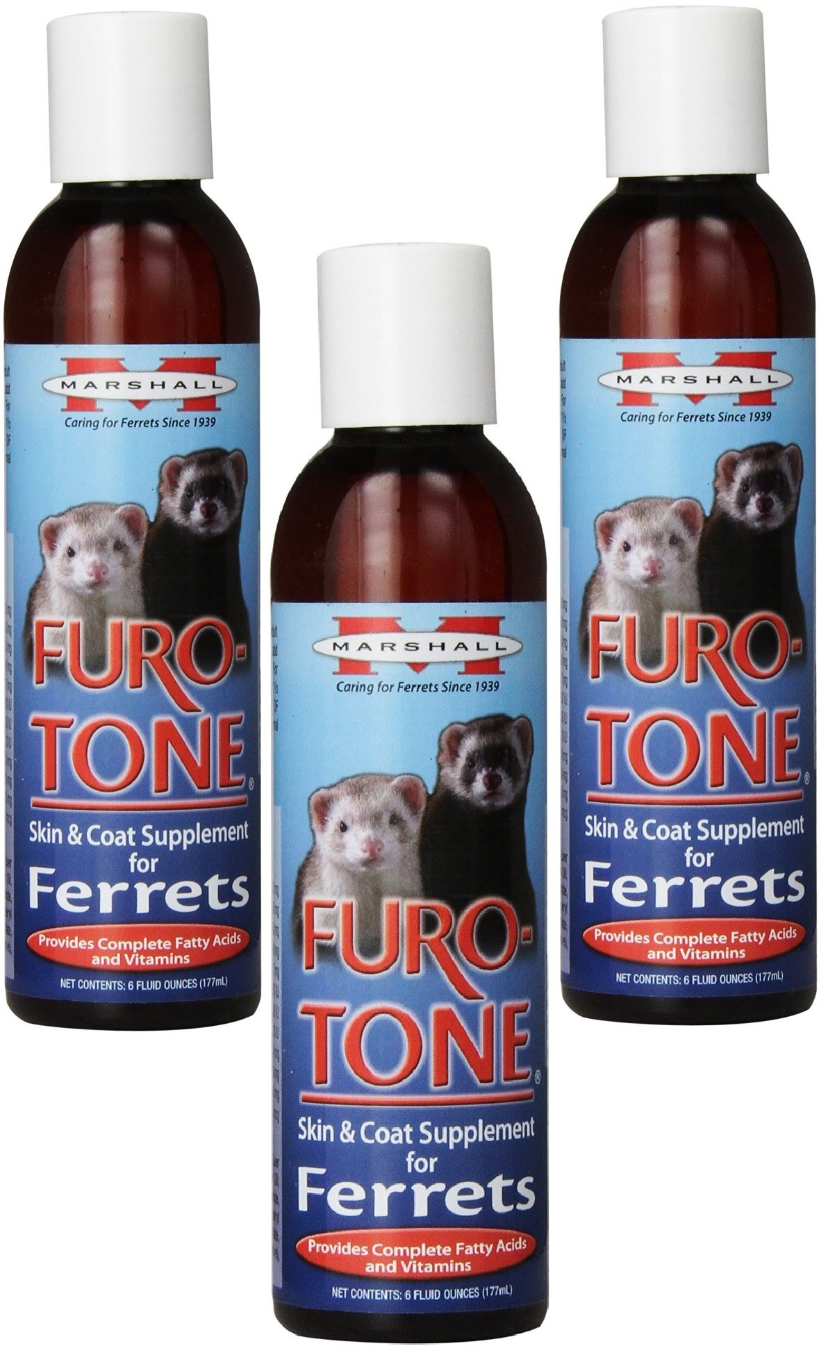 (3 Pack) Marshall Furo Tone Vitamin Supplement for Ferrets, 6-Ounce each by Marshall