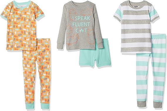 Spotted Zebra Girls' Snug-fit Cotton Pajamas Sleepwear Sets