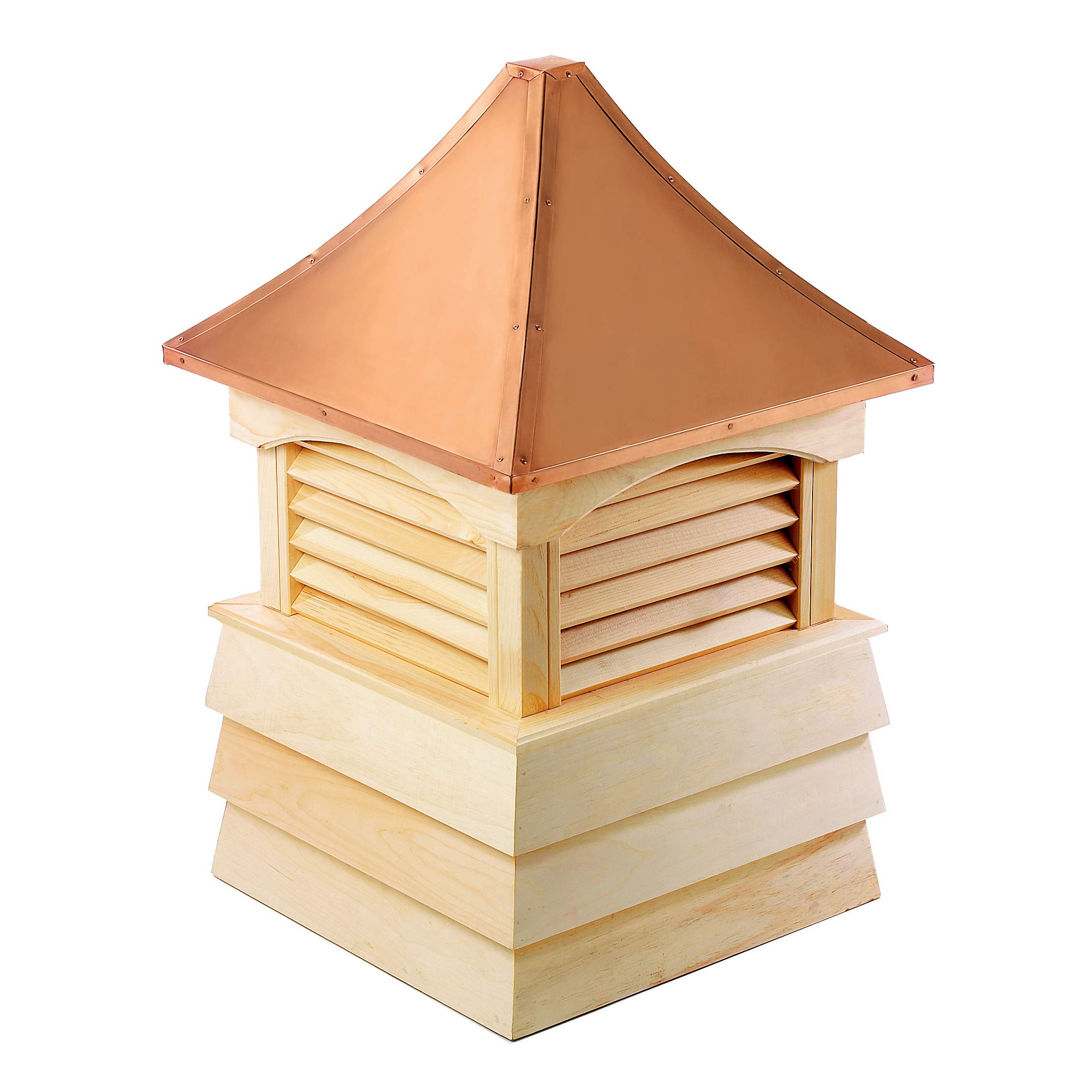 Good Directions Sherwood Wood Shiplap Cupola with Copper Roof 22'' x 30''
