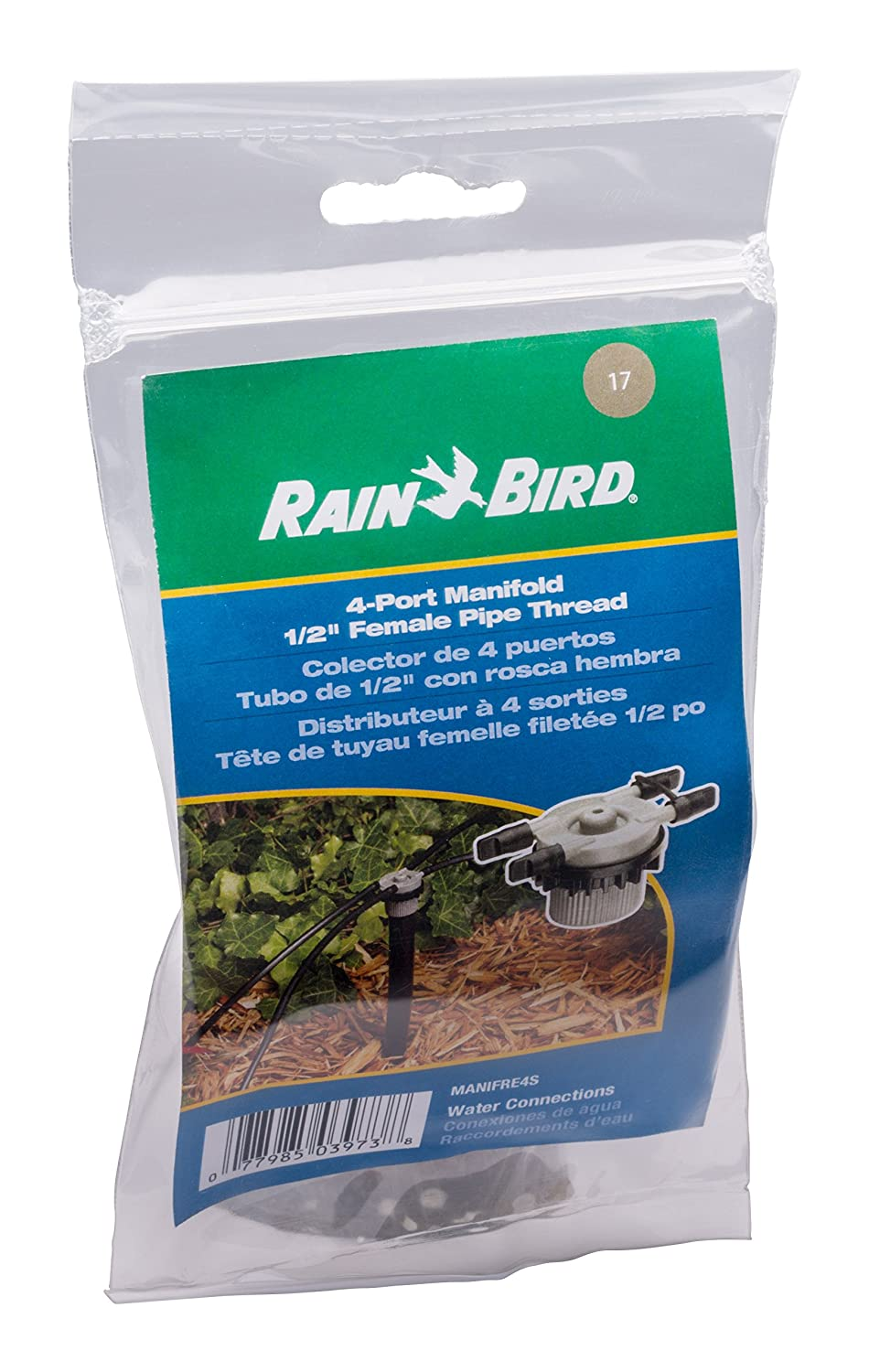 Unregulated Free Flow Rain Bird MANIFRE6S Drip Irrigation 6-Port Manifold