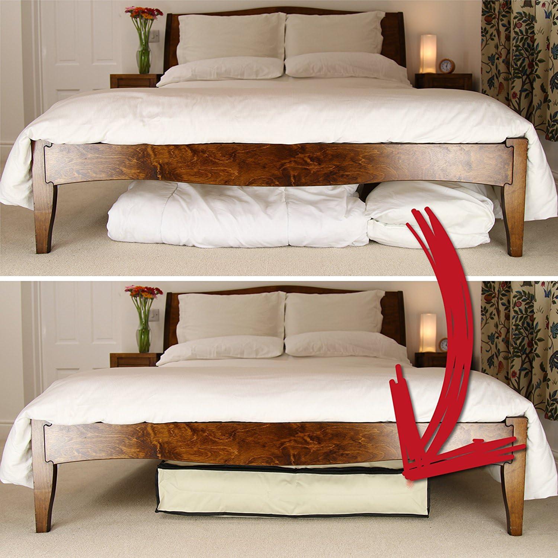 Gute Lines Lot de 2/bo/îtes de rangement /à ranger sous le lit pour /économiser de l/'espace pour le linge de lit et les v/êtements H15X105X45cm-2 beige beige