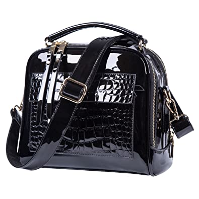 c8a252008ed3 Amazon.com  Black purses and handbags For Women Crossbody Leather Shoulder  Bags Tote Bag (Black)  Shoes