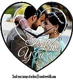 Creative Width Personalized / Customized Anniversary Heart shaped Wall clock gift for memories, Anniversary, Wedding, Friends, Girlfriend, Boyfriend, Husband, Wife, Mom, Dad, Children (11x11inch)